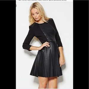 French Connection vegan leather pleated dress!
